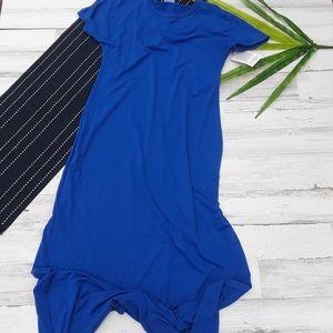 {Lularoe} Blue Long Maxi Maria Dress Size Small